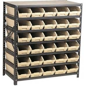 Shelving For Storage Bins 72 Bin Shelving System Gempler S