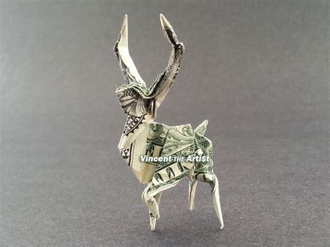 Deer Origami - deer money origami reindeer buck stag vincent the artist