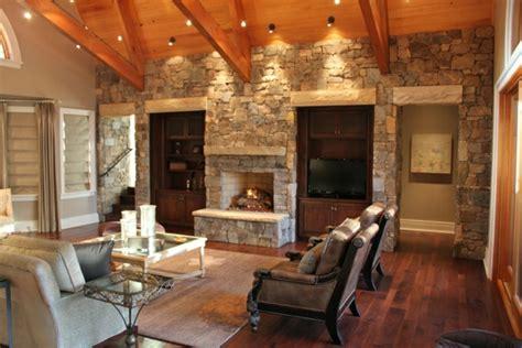beleuchtung natursteinwand natursteinwand im wohnzimmer eine attraktive