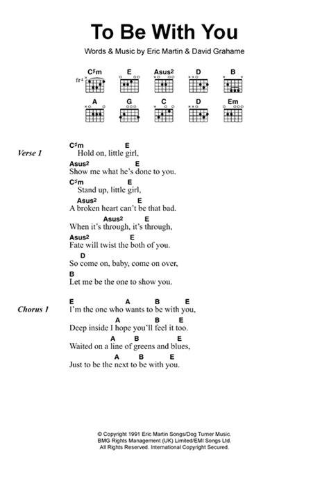 lyrics mr to be with you sheet by mr big lyrics chords