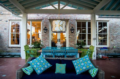 Mexican Style Patios by Mexican Inspired Metairie Residence