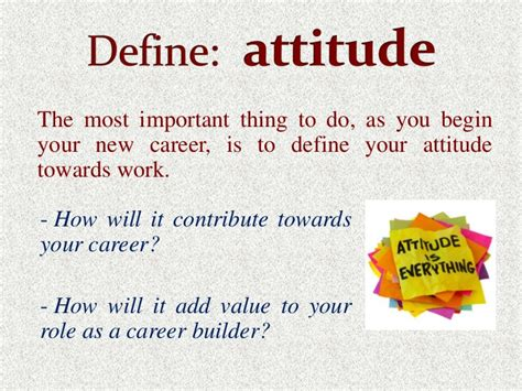 Most Important Things In Mba by Attitude Towards Work