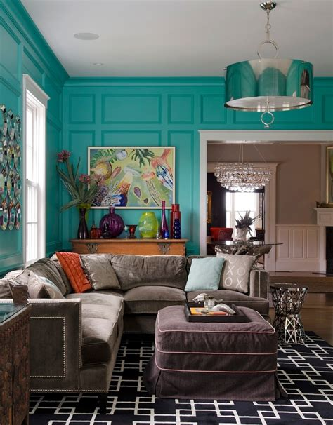 house of turquoise living room turquoise wall paint living room rustic with elephant
