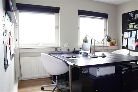 two sided desk Home Office Contemporary with All American