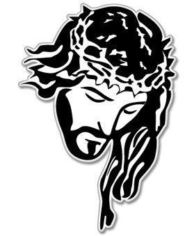 [Pode ser impresso] Desenho De Jesus Cristo Em Preto E