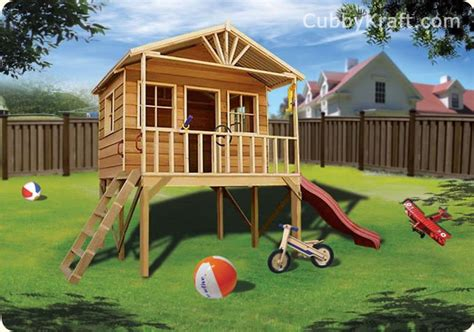 Elevated Cubby House Plans House Plans Elevated Cubby House Plans