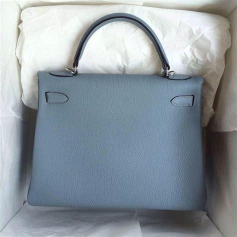 Hermes Bag 13 hermes birkin bag 32cm retourne j7 blue togo leather silver hardware hermes crocodile