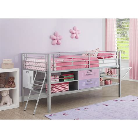 twin loft bed with storage dhp junior twin loft bed with storage reviews wayfair