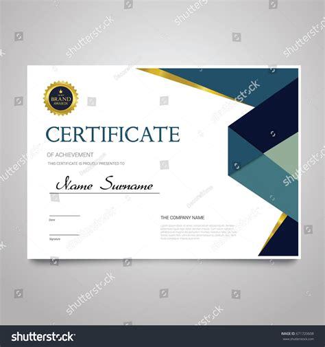 certificate design company certificate template modern horizontal elegant vector