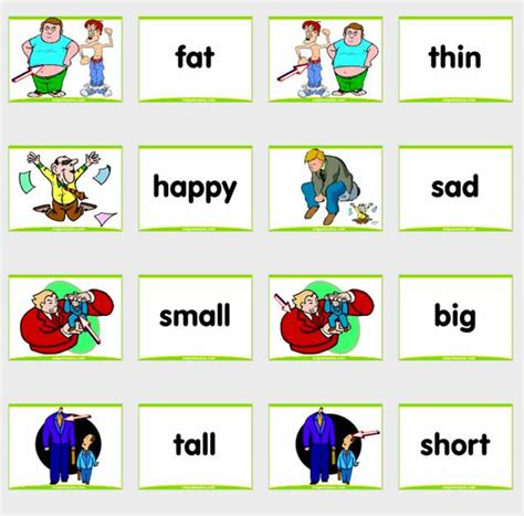 Printable English Flashcards | 7 best images of adjective flash cards printable