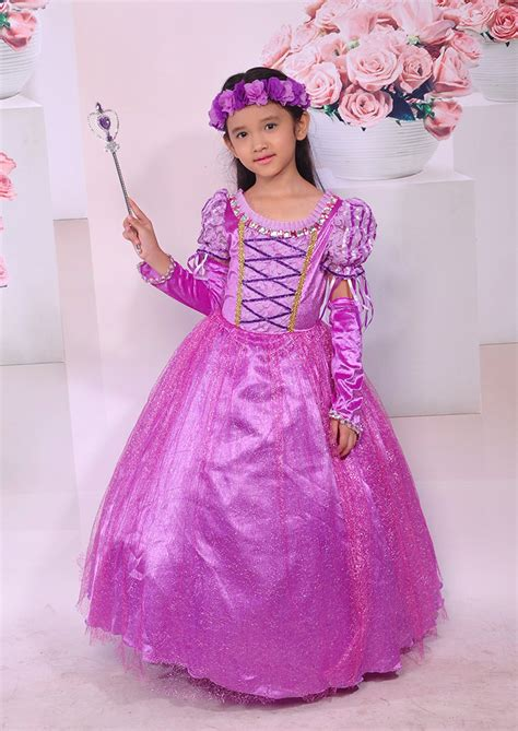 Gaun Dress Kostum Rapunzel Ungu aliexpress buy fantasia vestidos wedding dress
