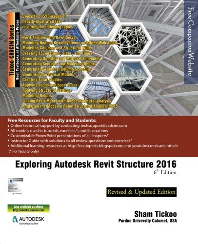 exploring autodesk revit 2018 for architecture books exploring autodesk revit structure 2016 6th edition