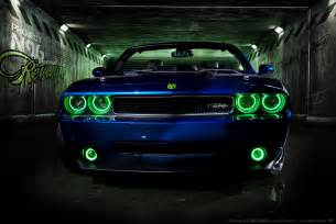 Halo Lights For Dodge Challenger Featured Project Drop Top Customs By Convertible