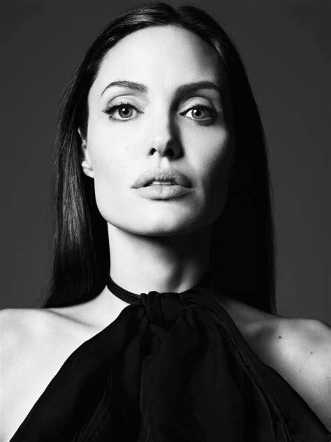 Angelina Jolie by Hedi Slimane at Elle US June 2014