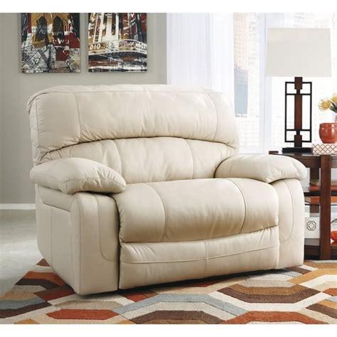 wide seat recliner ashley damacio leather zero wall wide seat recliner in