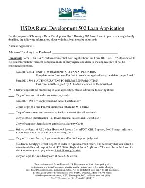 usda rural housing loan application usda printable forms fill online printable fillable blank pdffiller