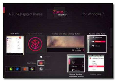 theme windows 7 zune free dark white windows 7 zune themes