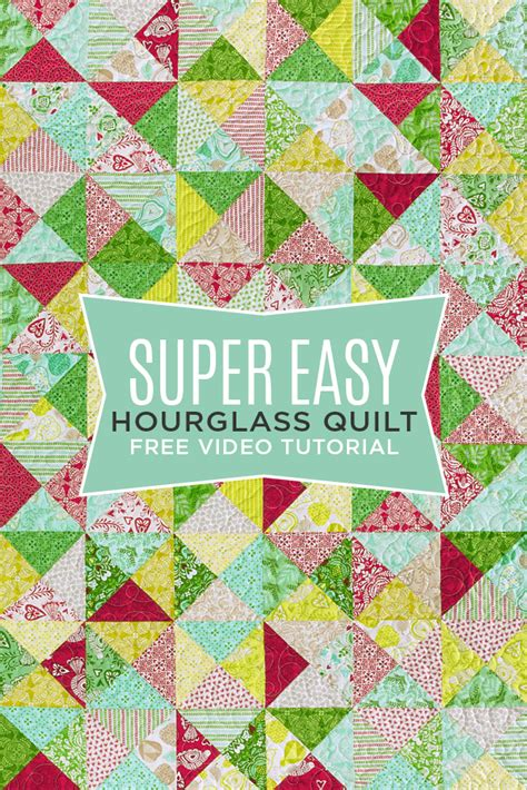 Easy Quilt To Make by New Friday Tutorial The Easy Hourglass Quilt