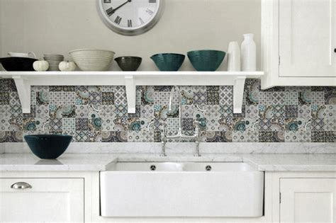 Ceramic Kitchen Backsplash Top 15 Patchwork Tile Backsplash Designs For Kitchen