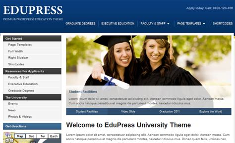 wordpress university themes best wordpress themes for