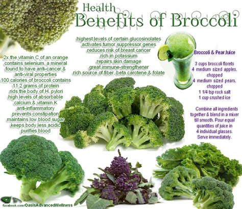 6 weight loss power vegetables diet infographic health benefits of broccoli