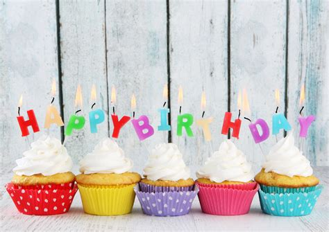 happy birthday design for cupcakes happy birthday colorful cupcakes 4k wallpaper hd wallpapers