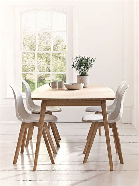 Scandi Dining Table Scandinavian Style Dining Room Furniture Table And Chairs Home Living Design