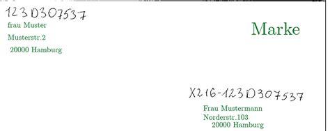 Adrebe Mit Postfach Im Anschreiben Wie Beschrifte Ich Einen Brief An Den Center