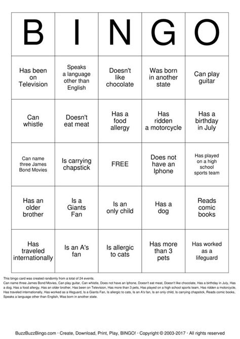 Icebreaker High School Bingo Card Template by Icebreaker Bingo For Middle School Pictures To Pin On