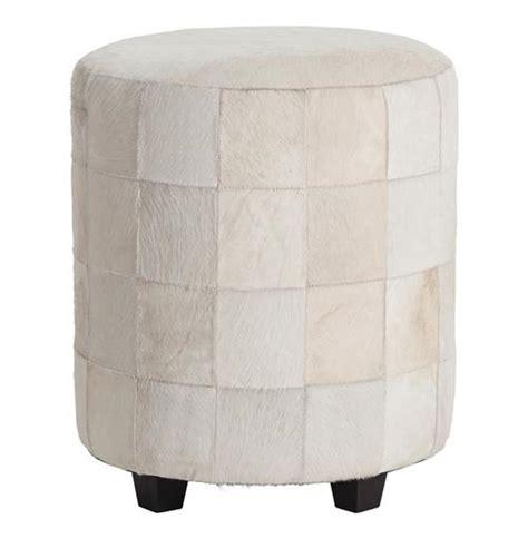round white leather ottoman wimberely patchwork white leather round ottoman footrest