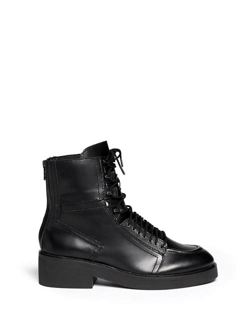 lace up combat boots ash neal lace up leather combat boots in black lyst