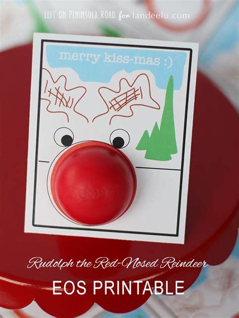 printable eos christmas cards quot merry kiss mas quot rudolph eos printable card landeelu com