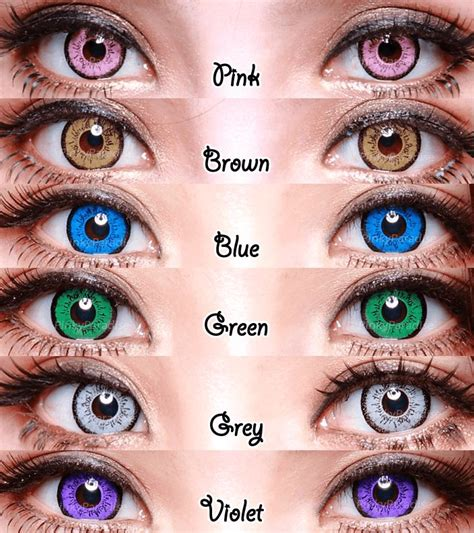 25 best ideas about coloured contact lenses on