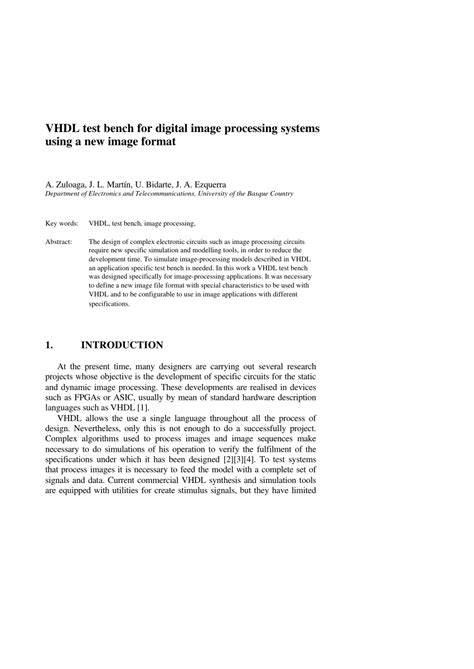 vhdl test bench for and gate vhdl test bench for digital image pdf download available