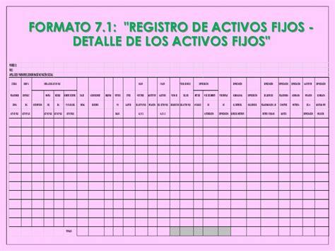 Formato Registro De Activos Fijos Sunat   formato registro de inventario permanente valorizado sunat