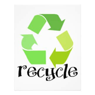 recycle sign template recycling symbol flyers programs zazzle