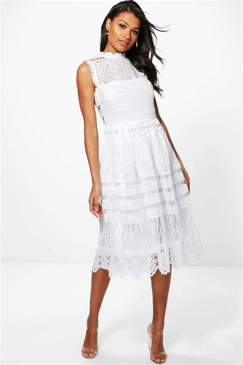 Pre Order Paula Batik Lace Dress boutique paula lace midi skater dress at boohoo