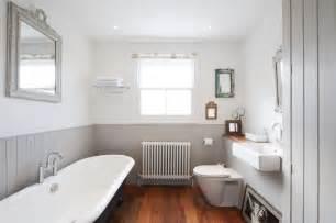 White Beadboard Paneling - contemporary bathroom