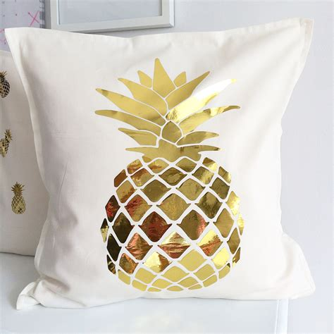 Pineapple Pillows by Gold Pineapple Pillow Cover
