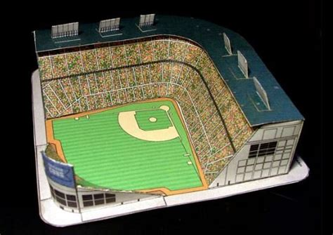 How To Make A Football Stadium Out Of Paper - models paper and baseball on
