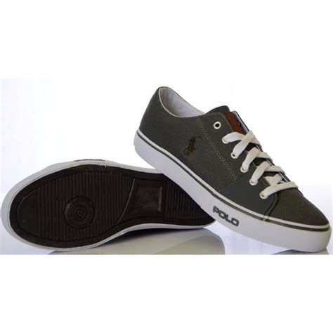 ralph shoes ralph shoes cantor low ne grey canvas trainer