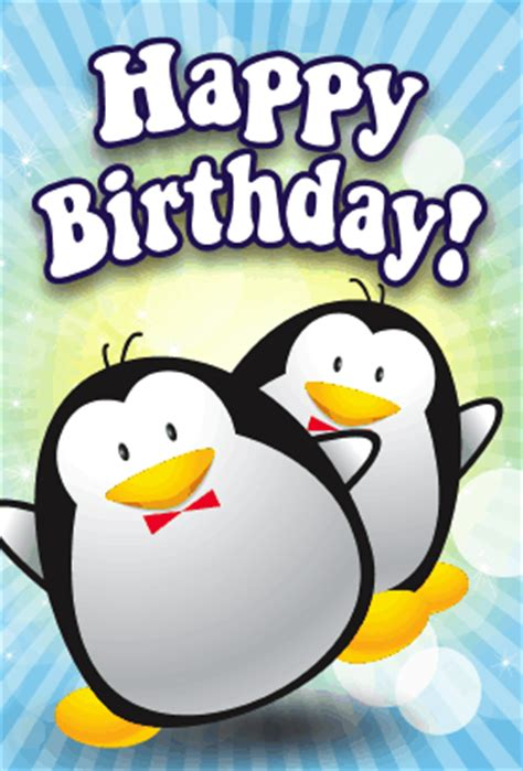 Penguin Birthday Cards Penguins Birthday Card