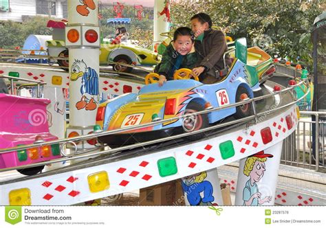 theme park for toddlers pengzhou china two kids at amusement park editorial