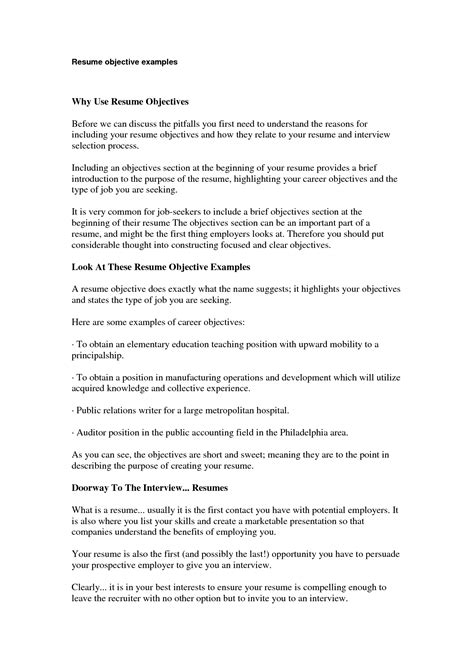 sle objective statements on resume sle career objective 28 images sales resume objective