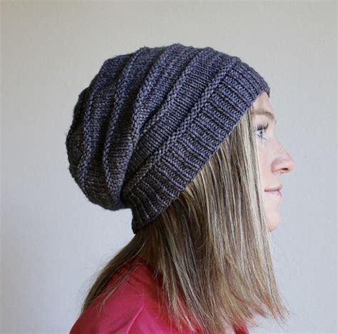easy knitted beanies free patterns free pattern friday favorite knit slouchy hat by
