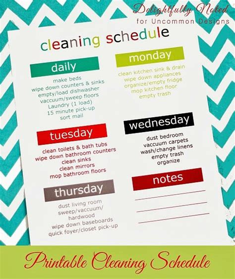 printable daily cleaning schedule printable weekly cleaning schedule schedule printable