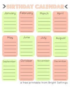printable birthday calendar template pin birthday calendar template printable on