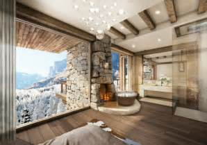 rustic home interior design chambre avec salle de bain fusion d espaces harmonieuse