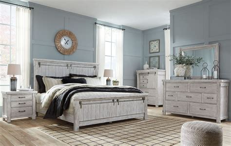 brashland white panel bedroom set  ashley coleman furniture