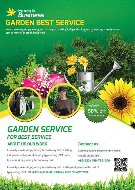 flyer templates gardening garden template